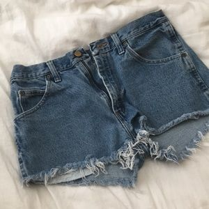 PacSun Wrangler High Waisted Jean Shorts